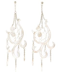 CLIZIA ORNATO | Filigree Lo Earrings From Featuring Hanging Chain Detailing And A Rear Hook Fastening