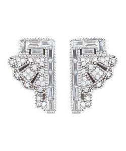 V JEWELLERY | Deco Fan Earrings