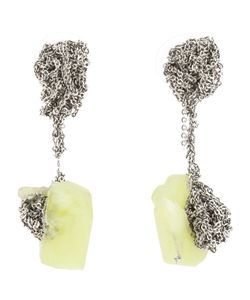 Arielle De Pinto | Stainless Steel Crochet Earrings From Featuring 925 Solid Sterling Posts And Backs And A Chemically Grown Citron Quartz Stone
