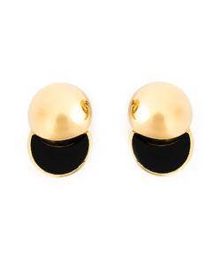 LARA BOHINC | Sterling And Vermeil Collision Stud Earrings From Featuring Spheres Split In Half Revealing Onyx Inlays