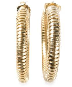 JANIS SAVITT | -Tone Metal Cobra Earrings From Featuring A Post Back Closure A Snake Chain And A Hoop Shape