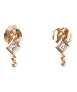 KINZ KANAAN | Diamond Stud Earrings From