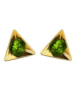 RUIFIER | 18kt Stella Tsavorite Earrings From Featuring A Butterfly Fastening And A Deep-Cut Pyramidal 18ct Setting Highlights The Splendour Of This Triangular Tsavorite Earrings Refracted Into A Hexagon In Its Highly Polished Reflection