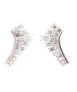 V JEWELLERY | Deco Baguette Lobe Earrings