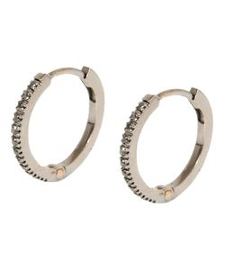 DIMA | 18kt And Diamond Hoop Earrings From Featuring A Hook Clip Fastening And A Hinged Structure