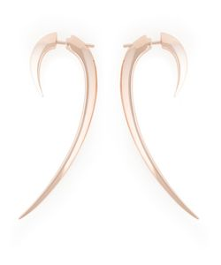 SHAUN LEANE | Vermeil And Sterling Signature Tusk Long Earrings From Featuring A Butterfly Fastening And An Archetypal Modern Classic Signature Tusk Motif For A Sharp Yet Sophisticated Shape