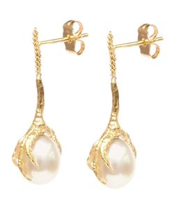 WOUTERS & HENDRIX GOLD | Crows Claws Pearl Earrings