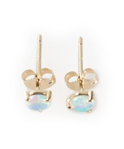WWAKE | 14kt Opal Stud Earrings From