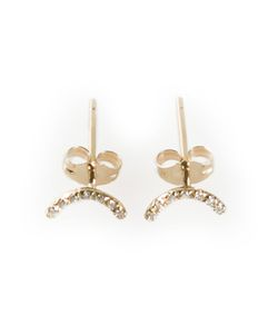 WWAKE | Pave Crystal Arc Earrings From Featuring A Butterfly Fastening