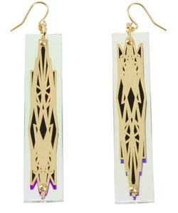 SARAH ANGOLD STUDIO | Acrylic And Brass Sacunda Earrings From