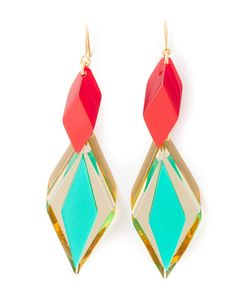 SILVIA ROSSI   Multicoloured Ace Earrings From