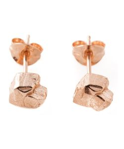 ROS MILLAR | Plated Sterling Nugget Earrings From Featuring A Butterfly Fastening