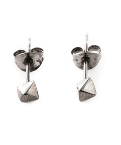 ROS MILLAR | Rhodium Plated Sterling Meteor Earrings From Featuring A Butterfly Fastening