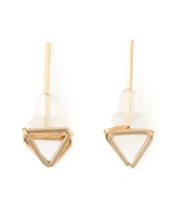 BY BOE | 14kt Filled Sterling Pyramid Stud Earrings From