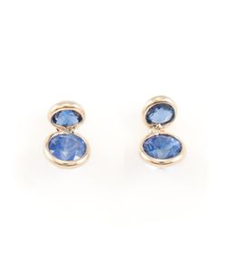WWAKE | 14kt Sapphire Stud Earrings From Featuring A Butterfly Fastening
