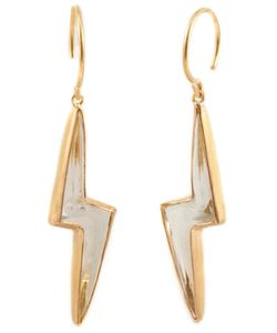 MARIE HELENE DE TAILLAC | 22kt Pale Quartz Lighting Bolt Earings From Featuring A Hook Fastening