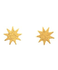 MARIE HELENE DE TAILLAC | 22kt Star Earrings From Featuring A Butterfly Fastening