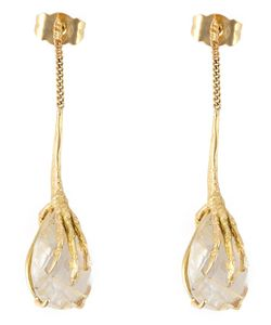 WOUTERS & HENDRIX GOLD | Crows Claw Rutilated Quartz Earrings