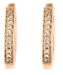 WOUTERS & HENDRIX GOLD | Diamond Hoop Earrings From Featuring Pave Set Crystals A Hinged Structure And A Hook Clip Fastening
