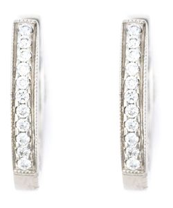 WOUTERS & HENDRIX GOLD | Diamond Hoop Earrings From Featuring Pave Set Diamonds A Hinged Structure And A Hook Clip Fastening
