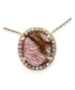KIMBERLY MCDONALD | Super Seven Quartz And Diamond Pendent Necklace