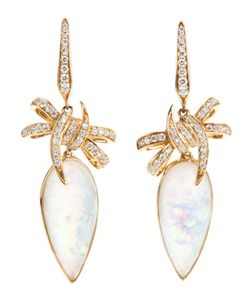 Stephen Webster | Forget Me Knot Quartz And Diamond Bow Earrings