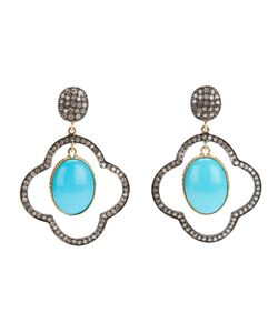 GEMS N' CRAFTS | Turquoise Diamond Drop Earrings