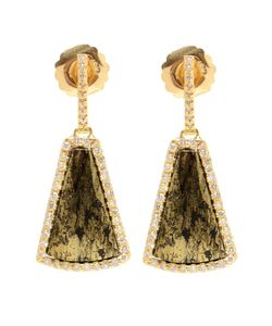 KIMBERLY MCDONALD | 18kt Apache And Diamond Earrings