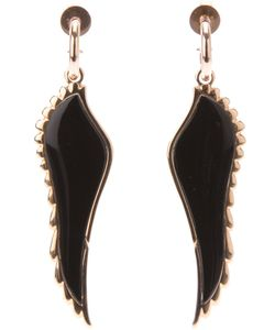 GARRARD | 18kt Wing Earrings From Featuring Onyx Inlay A Trim A Hoop Suspension And A Pin Fastening
