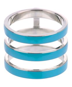 REPOSSI | And Turquoise Berbere Enamel Ring From Featuring A Three Stacked Design