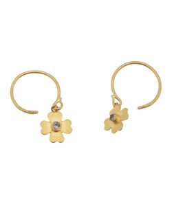 MARIE HELENE DE TAILLAC | Flower Earrings From Featuring A Flower With Sapphire Center And Hook Closure