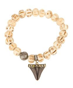 LOREE RODKIN | -Tone Beaded Shark Tooth Bracelet From Featuring A Shark Tooth Charm With Pave Diamonds