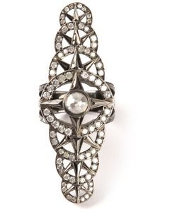LOREE RODKIN | Rhodium And 18 Carat Bondage Ring From Featuring Diamonds 1