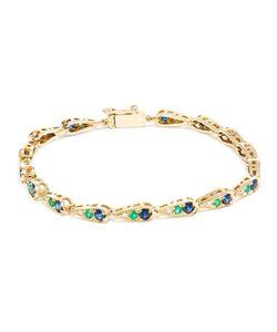 SABINE G | Diamond Emerald And Sapphire Bracelet