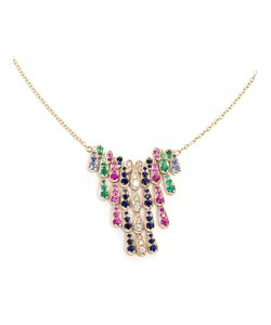 SABINE G | 18kt Diamond Sapphire And Emerald Necklace
