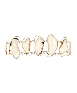 MONIQUE PÉAN | 18kt Recycled Walrus Bone And Diamond Oyster Shape Bracelet From Featuring Vivid Sunburst Fossilized Walrus Bone And Diamonds Tw