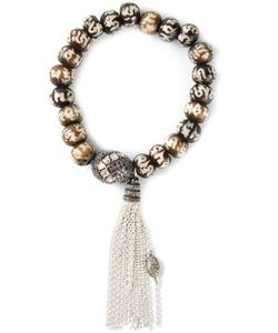 LOREE RODKIN | -Tone And Diamond Beaded Tassel Bracelet From Featuring Beads Pave With Diamonds 3