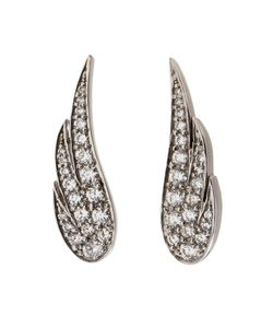 Anita Ko | 18k Wing Earrings From Featuring A Wing Silhouette With Diamonds And A Post Back Closure
