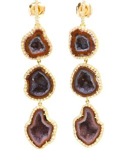 KIMBERLY MCDONALD | 18kt Diamond And Geode Earrings