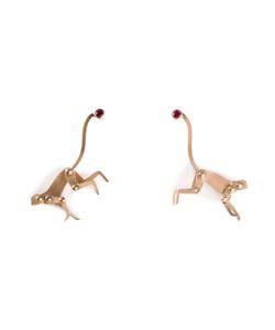 MARC ALARY | Ruby Monkey Earrings