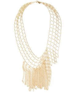 WOUTERS & HENDRIX | -Tone Hanging Chains Necklace From Featuring A Spring-Ring Fastening A Chain Lattice And Hanging Beaded Fine Chains