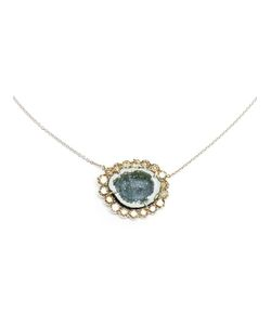KIMBERLY MCDONALD | Diamond And Geode Pendent Necklace