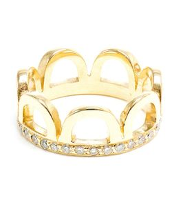 JAGGA | Eighteen Carat Or Crown Ring Inlaid With Diamonds From