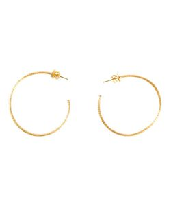 MARIE HELENE DE TAILLAC | 22kt Hoop Earrings From Featuring A Post Back Closure