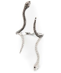 ELISE DRAY | 18kt And Diamond Pave Siamoise Snake Ring From Featuring Eighty-One 0
