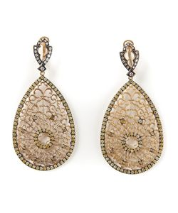 LOREE RODKIN | 18kt And Diamond Small Tear Drop Earrings From Featuring A Post Back Closure 2
