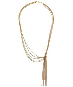WOUTERS & HENDRIX GOLD | 18kt Necklace From Featuring Tangled Delicate Chains And A Knotted Front With Tassel Detailing