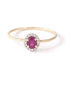 WOUTERS & HENDRIX GOLD | 18kt And Ring From Featuring A Faceted Ruby Stone 0