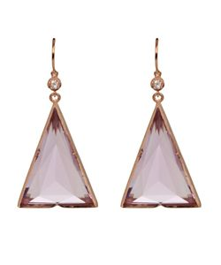 IRENE NEUWIRTH | Triangle Shaped Earrings In From
