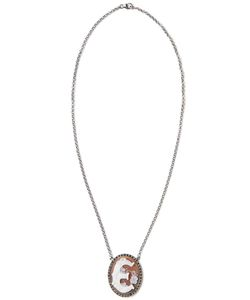 AMEDEO | Sterling And Sardonyx Initial Pendant Necklace From